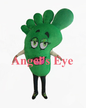 big green foot mascot costume adult size foot feet health theme advertising costumes cartoon foot fancy dress(China)
