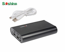 SoShine E3 Portable Power Bank Charger for iPhone for Samsung Mobile  4x 18650 Battery USB Portable Lighting Accessories Black