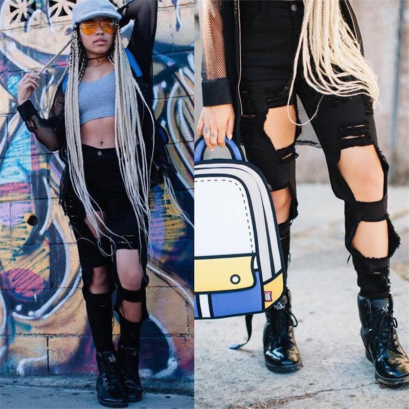 Jean Boyfriend 2017 Hot Summer Women High Waist Ripped Distressed Jeans Pants Sexy Black White Hole Hip Hop Skinny Pencil JeansОдежда и ак�е��уары<br><br><br>Aliexpress
