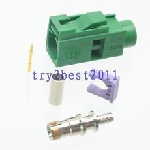 10pcs Connector Fakra SMB E 6002 jack pin crimp RG174 RG316 LMR100 Straight