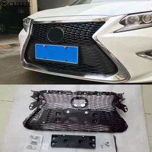 ES350 Racing Grills Chrome frame ABS Car Front Honeycomb Grille for Lexus ES350 13-15