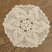 Mayitr 30cm Round Lace Table Mat Hollow Table Cloth Doily Placemat Craft Wedding Birthday Party Table Decorative Hot Selling(China)