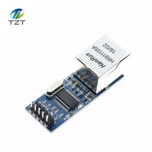 10PCS/LOT mini ENC28J60  LAN Ethernet Network Board Module 25MHZ Crystal AVR 51 LPC 3.3V+free shipping