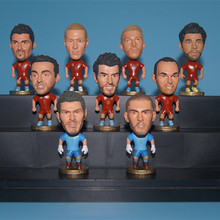 Soccerwe Spain Soccer Star Lovely Action Figures Toys Fans Collection Football Dolls Gift Ramos Xavi Iniesta Casillas