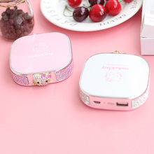 Square Cute Hello Kitty Power Bank 6000Mah Universal Charger Portable External Battery Power Bank