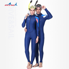 DIVE&SAIL UPF50+ Lycra Swim Wet Suit Dive Skin Snorkeling Surf Anti-skid Full body Rash Guard for Men Women One-piece Wetsuit H(China)