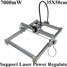 Laseraxe 450nm 7000mW 7W DIY Desktop Mini Laser Engraver Engraving Machine Laser Cutter Etcher 35X50cm Adjustable Laser Power