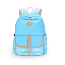 Children backpacks korean style girls backpack child bagpack women school bag kids canvas backpack blue fabric bag blue bookbag