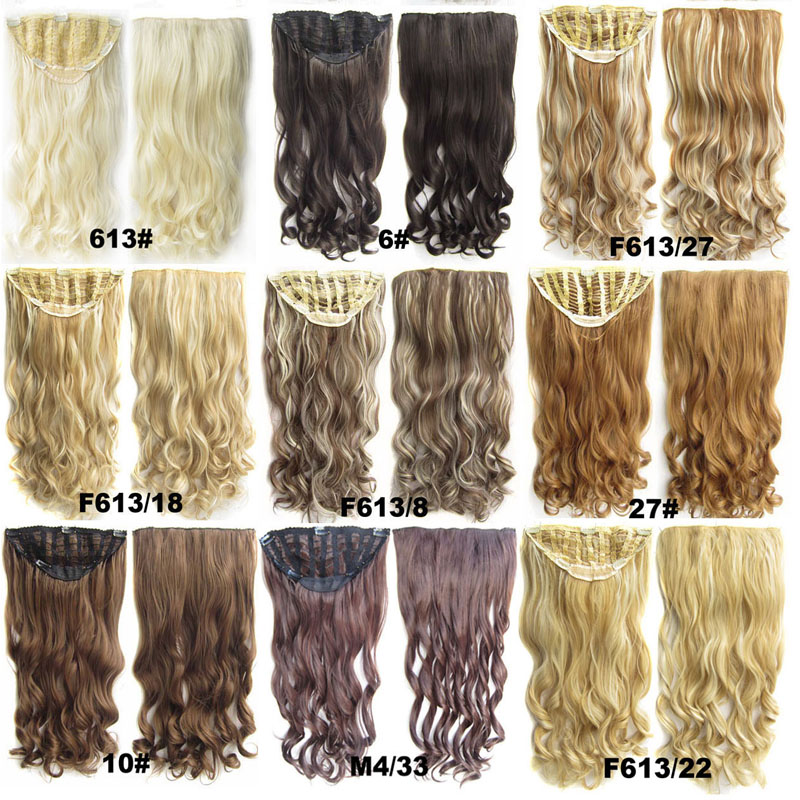 Half wig 24 heat resistance silk wavy Net half wig Hairpieces with 7 clips Elastic Cap Wig Black Brown Blonde<br><br>Aliexpress