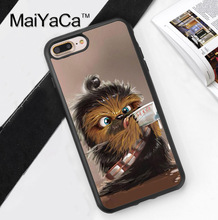 MaiYaCa Chewbacca Baby Funny Star Wars Phone Cases For iphone 7 Plus Soft TPU Cover For iPhone 7Plus Case Luxury Capa Coque(China)