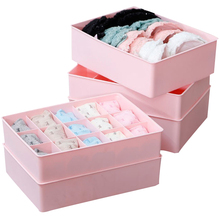 Plastic Underwear Storage Box Organizer Box Bag Cosmetic Divider For SocksTies BraPrint Container Free Shipping(China)