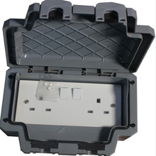 New IP66 Waterproof socket UK standard Outdoor waterproof switch socket Free Shipping(China)
