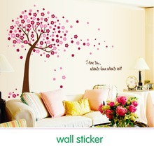 Free shipping home decor decals Poster house Sticker Removable vinyl wall stickers Peach Tree large Wall paster for kids rooms