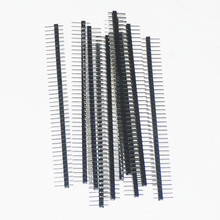 20pcs Single Male Pin Header For Arduin 1x40 Row 2.54 Breakable 40 Pins Connector Strip Board Module Electronic Part Elektronik(China)