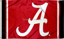 Alabama Crimson Tide Jersey Stripes  Flag150X90CM NCAA 3X5FT Banner 100D Polyester grommets custom009, free shipping