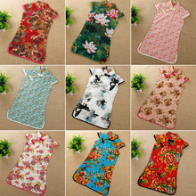 Fashion 2017 Kids Baby Traditional Chinese Garments Casual Girls Chinese Cheongsam Cotton Children's A-Line Elegant Dresses