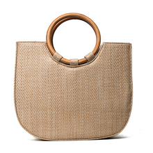 Europe and the United Statese fashion design beach bag woven solid wood handbag Crossbody bags
