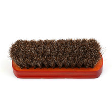 Horsehair Shoe Brush Polish Natural Leather Real Horse Hair Soft Polishing Tool Bootpolish KO879111