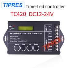 Time programable RGB LED Controller TC420 DC12V/24V TC423 AC100V 240V 5Channel Total Output 20A Common Anode Programmable(China)