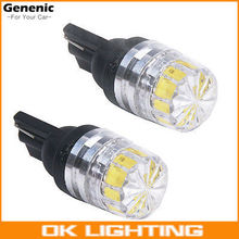 2PCS Hot Sale!!! New White 2 LED 5630 SMD T10 W5W Wedge Lens Light Car Vehicle Bulb Lamp DC 12V