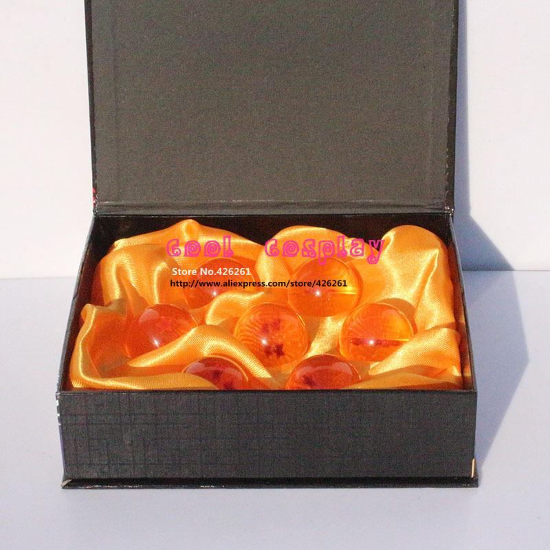 Wholesale Dragon Ball Z New In Box  7 Stars 3.5CM Crystal Balls Set of 7 pcs Complete full set<br><br>Aliexpress