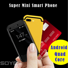 Super Mini Android Smart Phone 7S I7 I7S I8 MTK Quad Core 1G+8G 5.0MP Dual SIM High Definition 8S Mobile Phone X black color(China)