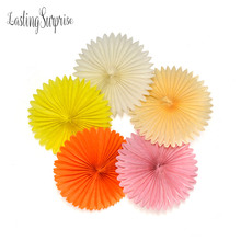 6pcs Mix Size 8 10 12Inch Tissue Hollow Paper Fans Hanging Home Garden Wedding / Kids Birthday Party / Baby Shower Decoration