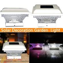 Lampada LED Garden Decoration Light Solar Lamps Solar Powered LED Colorful Post Cap Light Outdoor Lighting Energy Saving Lamps