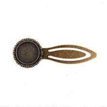 5pcs/lot Antique Bronze BookMark Round Base Setting Tray Bezel Pendant Charm Finding,Fit 20mm Cabochon Bookmark Making Supplier