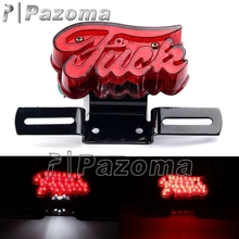Motor Bikes 12 Volt LED Tail Lights Taillamp Motorcycle Red Brake Stop Light For Harley Old School Choppers Bobber Cafe Racer