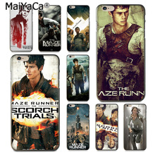 Buy MaiYaCa Maze Runner Movie Poster New High phone case Apple iPhone 8 7 6 6S Plus X 5 5S SE 5C Cover for $1.41 in AliExpress store