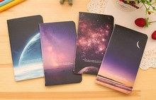 W-Free shipping 12.5*7.2cm black sky universe 4 types notebook(1piece)