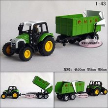 Candice guo! New arrival hot sale farm tractors series vegetable truck alloy model car toy car good for gift 1pc(China)