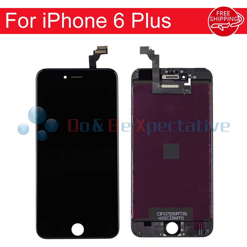 10PCS/LOT For iPhone 6 Plus LCD Display Touch Screen Digitizer Assembly +  LCD Foam + Touch Foam + Camera Ring + Sensor Ring<br>