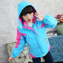 Girls Jacket Velvet Autumn Jacket For Girls Sport 2 Colors Outerwear Trendy Clothing Girls Outdoor Casual Sport Windproof(China)