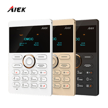 2016 New Ultra Slim Card Phone AIEK E1 Cell Phone Mobile Phone GSM Bluetooth English Russian Arabic Keyboard Multi Language