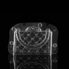 1Set Classic Clear Luxury Purse Cake mold DIY Polycarbonate Purse 3D Chocolate Mould Lady's BagBaking Molding(China)