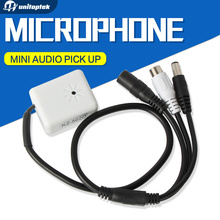 10Pcs/lot Audio Pick Up Mini Audio Box Adjustable Mic Audio Microphone CCTV Cable For DVR Camera