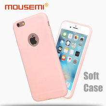 MOUSEMI Phone Cases For iPhone 6s 6 Case Silicone Pink Candy Cute Black Cover Soft Case For iPhone 6s 6 Plus 360 Protection Case(China)