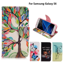 For coque Samsung Galaxy S6 Case for fundas Samsung S6 Cover Case G9200 G920A 5.1 inch + Stand Card Holder samsun(China)