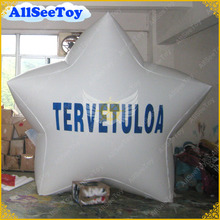 NEW 3m White Inflatable Advertising Star Balloon with Your LOGO for Events,FREE SHIPPING(China)