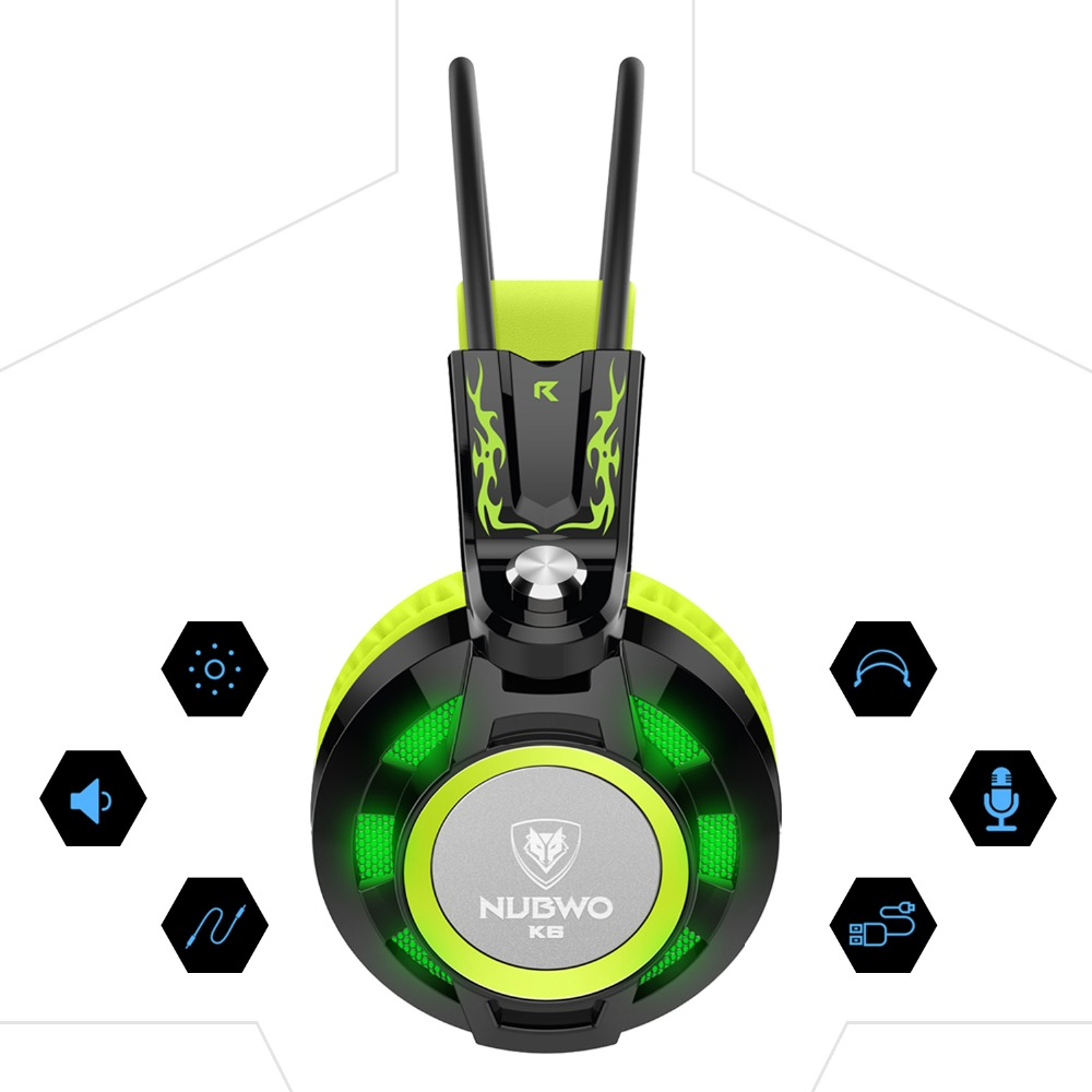 Nubwo K6 headphones gaming headset with microphone 3.5mm stereo auriculares game earphone glowing LED Light USB for PC Computer<br><br>Aliexpress