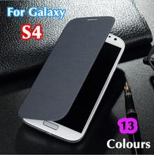 Slim Shell Original Battery Leather Flip Back Cover Holster Sleeve Bag Case For Samsung Galaxy S4 I9500 I9505(China)