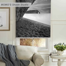 MOMO Thermal Insulated Blackout Fabric Custom Scenic Window Curtains Roller Shades Blinds,PRB set164-168