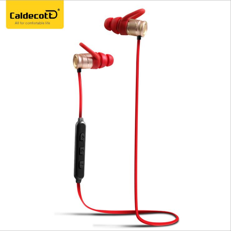 Free shipping gold color movement bluetooth earphone  csr 4.1 version best style good  for outside  sport  bluetooth earphone <br>