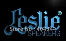 LL044- Leslie Speakers NEW Audio NR LED Neon Light Sign home decor shop crafts(China)