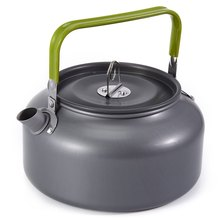 Hot sale 1.2L Outdoor Camping Teapot Survival Kettle Tea Coffee Pot Portable Aluminum Pot Water Kettle Teapot Anodizing Aluminum(China)