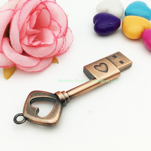 Full capacity usb flash drive 16gb heart key usb stick 8gb memory flash card 32gb pendrives 64gb usb flash disk memory stick 16g