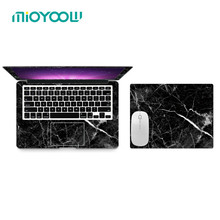"6 Color Marble Texture Laptop Body Decal Protective Skin Vinyl Stickers for Macbook Air Pro Retina 11"" 12"" 13"" 15 A1708 A1706(China)"