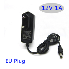 AC DC power adapter 12V 1A 1000MA 12W Converter Adapter Charger  Plastic case LED driver wall-mounted with EU plug